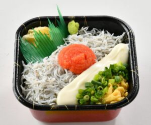 シラス明太チーズ丼