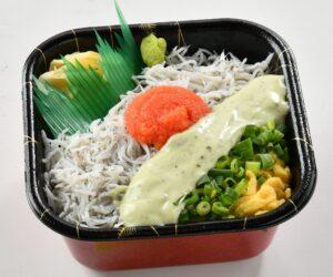 シラス明太バジルチーズ丼